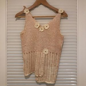 Hand knitted camisole